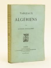 Tableaux algériens. - Couverture - Format classique