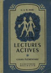Lectures Actives - Cours Elementaire - Couverture - Format classique