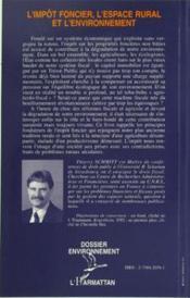 L'impôt foncier, l'espace rural et l'environnement - 4ème de couverture - Format classique
