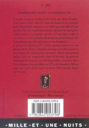 La Marquise D'O - 4ème de couverture - Format classique