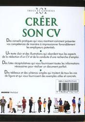 Creer Son Cv - 4ème de couverture - Format classique