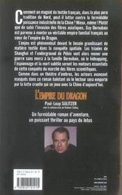 L'Empire Du Dragon - 4ème de couverture - Format classique