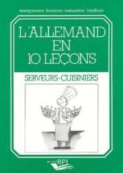 L'Allemand en 10 leçons ; serveurs-cuisiniers - Couverture - Format classique