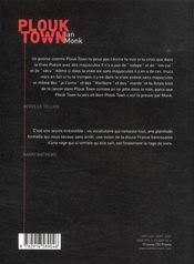 Plouk town - 4ème de couverture - Format classique