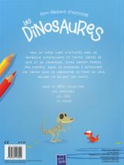 Mon Depliant D'Activites ; Les Dinosaures - 4ème de couverture - Format classique