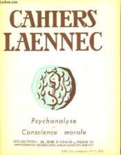 Cahiers De Laennec N°2 Mai 1948 - Psychanalyse Et Conscience Morale - Couverture - Format classique