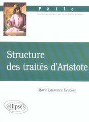 Structure Des Traites D'Aristote - Intérieur - Format classique
