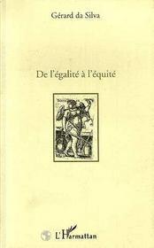 De L'Egalite A L'Equite - Intérieur - Format classique