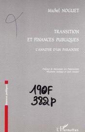 Transition et finances publiques ; l'analyse d'un paradoxe - Intérieur - Format classique