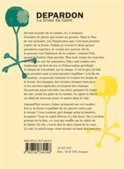 La ferme du Garet (3e édition) - 4ème de couverture - Format classique