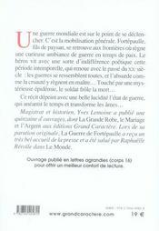 La Guerre De Fortepaulle - 4ème de couverture - Format classique