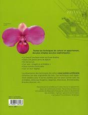 Cultiver les orchidées avec ou sans lumière artificielle - 4ème de couverture - Format classique