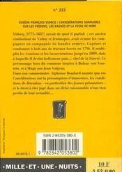 Considerations Sommaires Sur Les Prisons, Les Bagnes Et La Peine De Mort - 4ème de couverture - Format classique