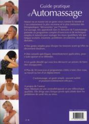 Guide Pratique D'Automassage - 4ème de couverture - Format classique