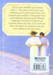 L'amitie ; les plus beaux textes, les plus belles images - 4ème de couverture - Format classique