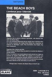 The Beach Boys ; l'enfance pour l'éternité - 4ème de couverture - Format classique