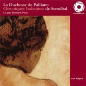 La duchesse de Paliano ; chroniques italiennes - Couverture - Format classique