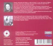 La duchesse de Paliano ; chroniques italiennes - 4ème de couverture - Format classique