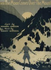 When The Moon Comes Over The Mountain - Piano Et Chant. - Couverture - Format classique