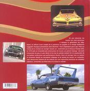 Muscle Cars 1964-1974, Les Sportives Americaines - 4ème de couverture - Format classique