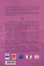 Territoires face au vieillissement en france et en europe ; géographie, politique, prospective - 4ème de couverture - Format classique