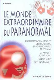Monde Extraordinaire Du Paranormal (Le) - Intérieur - Format classique