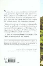 Saint Augustin - Une Lumiere Pour Notre Temps - 4ème de couverture - Format classique