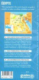 Egypte - 4ème de couverture - Format classique
