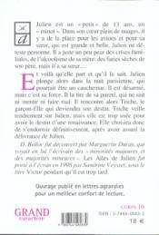 Les ailes de Julien - 4ème de couverture - Format classique