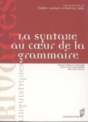 Syntaxe au coeur de la grammaire - Couverture - Format classique