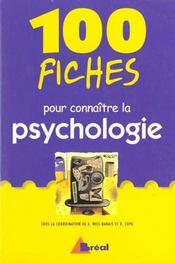 100 Fiches Pr Comprendre La Psychologie - Intérieur - Format classique