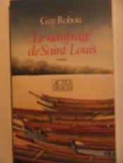 Le naufrage de saint-louis - Couverture - Format classique