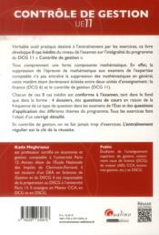 Les grands sujets du sujets dcg 11 - controle de gestion - 4ème de couverture - Format classique