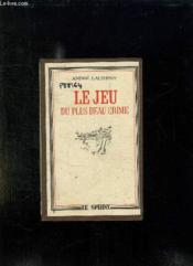 Le Jeu Du Plus Beau Crime. - Couverture - Format classique