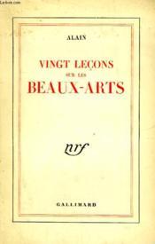 Vingt Lecons Sur Les Beaux-Arts. - Couverture - Format classique