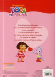 Decalque, Colle Et Colorie ; Dora L'Exploratrice - 4ème de couverture - Format classique