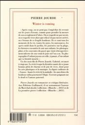Winter is coming - 4ème de couverture - Format classique