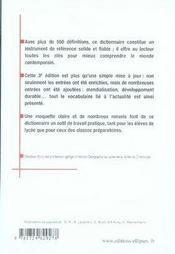 Dictionnaire d'histoire et géographie (3e édition) - 4ème de couverture - Format classique