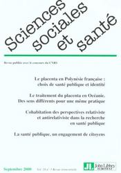 Sciences sociales et sante n.18 - Intérieur - Format classique