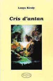 Cris D'Antan - Poemes - Couverture - Format classique