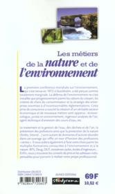 Les metiers t.218 ; nature et environnement ; 2e edition - 4ème de couverture - Format classique
