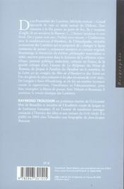 Denis Diderot - 4ème de couverture - Format classique