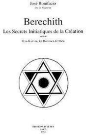 Berechith. secrets de la creation - Couverture - Format classique
