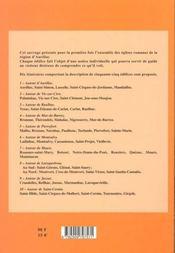 Eglises romanes de haute auvergne t.2 ; la region d'aurillac - 4ème de couverture - Format classique