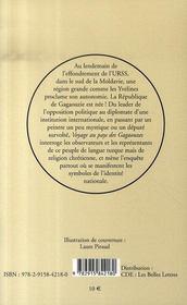 Voyage au pays des gagaouzes - 4ème de couverture - Format classique