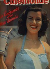 CINEMONDE - 21e ANNEE - N° 991 - MISS CINEMONDE ELUE MISS UNIVERS - Après son triomphe de Long-Beach, Christiane Martel laisse éclater sa joie - Couverture - Format classique