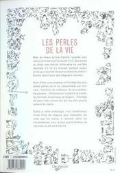 Les perles de la vie - 4ème de couverture - Format classique
