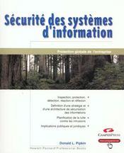 Securite Des Systeme D'Information - Intérieur - Format classique
