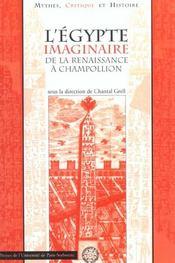 Egypte Imaginaire Renaissance Champollion. - Intérieur - Format classique