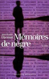 Mémoires de nègre - Couverture - Format classique